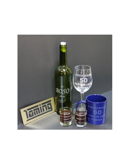Graviravimas ant stiklo, stikliukų graviravimas, graviravimas ant butelio, graviravimas ant taurės, puodelio graviravimas
